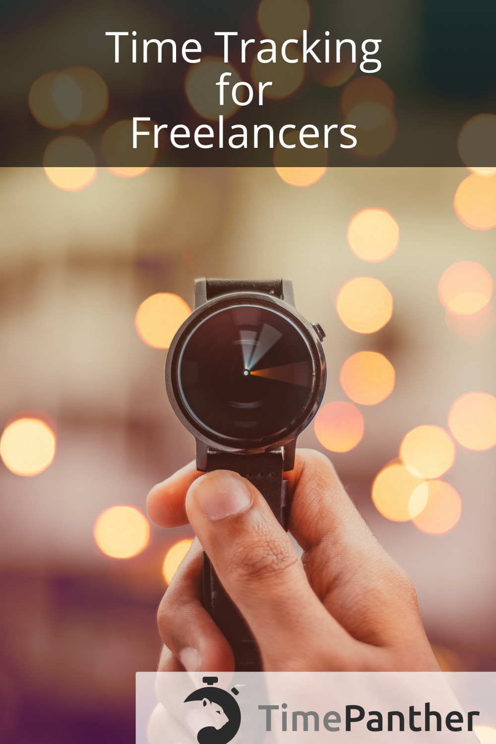 Time Tracking for Freelancers, timepanther.com. Photo of a hand holding a watch. Photo by Saffu on Unsplash.